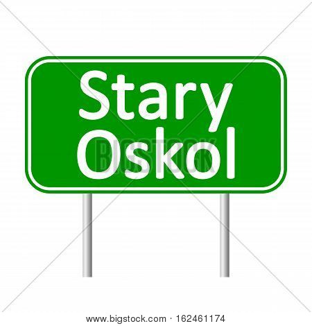 Stary Oskol road sign isolated on white background.