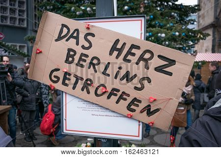 Berlin Germany - december 20, 2016: A sign saying