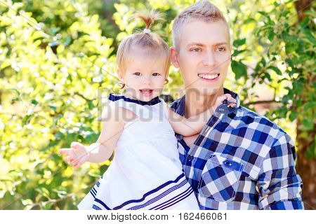 Partrait Of Father And Daughter