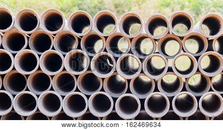 Industrial concrete pipes. Concrete tubes small radius