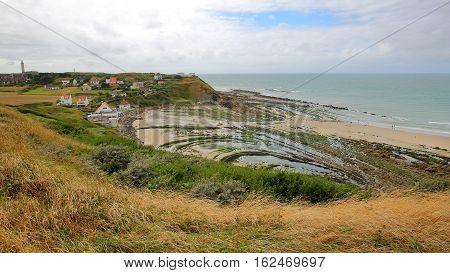 View of the Cap Gris Nez in Cote d'Opale, Pas-de-Calais, France