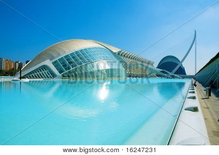 VALENCIA, SPAIN - MARCH 17: The City of Arts and Sciences of Valencia on March 17, 2010 in Valencia, Spain