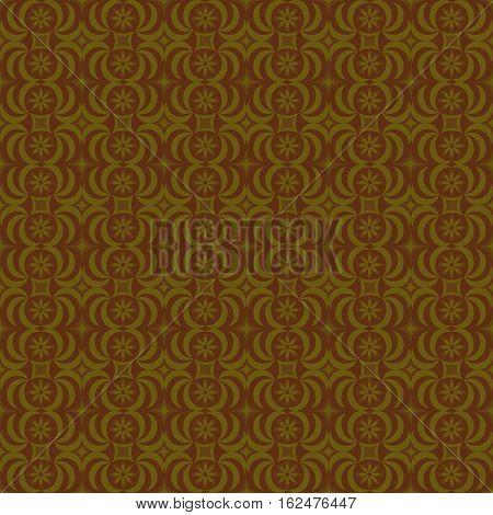 diamond flower brown yellow arc graphic design vector