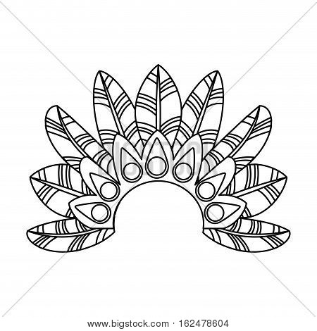 feather tropical carnival decoration vector illustration design
