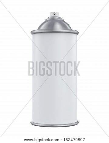 Blank Spray Can isolated on white background. 3D render