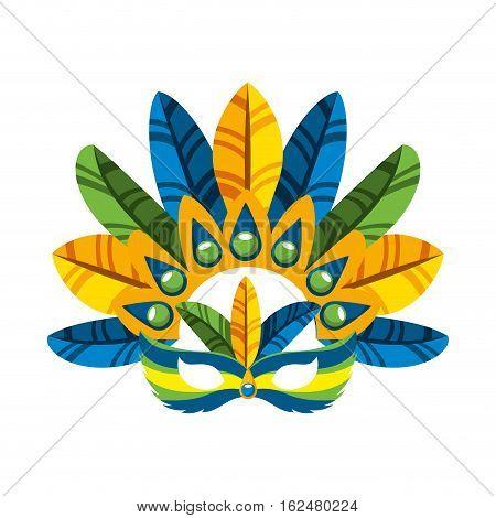 carnival mask tropical icon vector illustration design