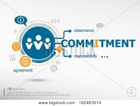 Commitment Design And Marketing Concept.