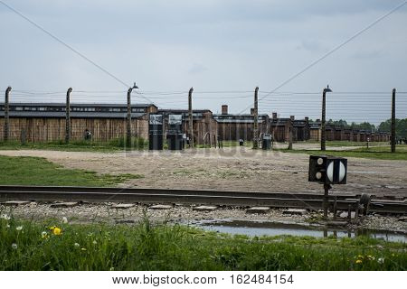 Barrack living room at concentration camp Auschwitz Birkenau KZ Poland 2
