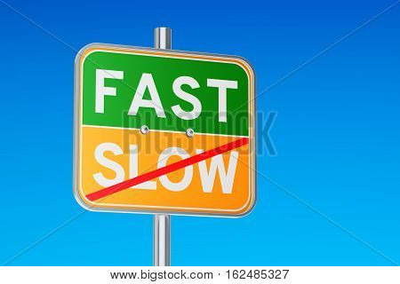 Fast Start concept 3D rendering isolated on white background