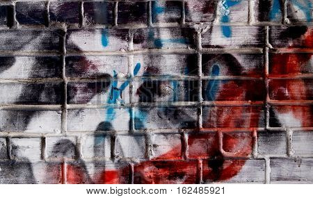 Brick, brick wall texture, brick wall background. Grunge wall.  Graffity background, graffity texture.