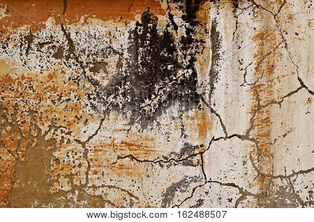 Plaster, old plaster on a concrete wall. Old wall, old painting wall. Grunge, grunge background or texture. Stucco, stucco background, old stucco.