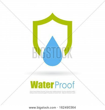 Water proof abstract logo design vector illustration isolated on white background