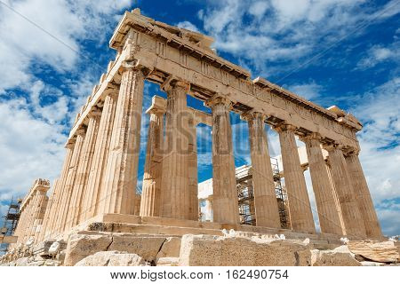 Parthenon temple on the Acropolis Athens Greece