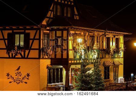 Outdoor Christmas Decoration In Strasbourg, France
