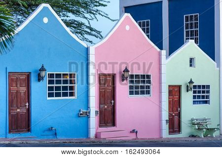 View Of Hotel Facade In Curacao With Its Unique Architecture