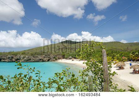 Grand Knip Beach In Curacao At The Dutch Antilles