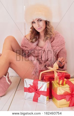 Woman Unpacking Gifts