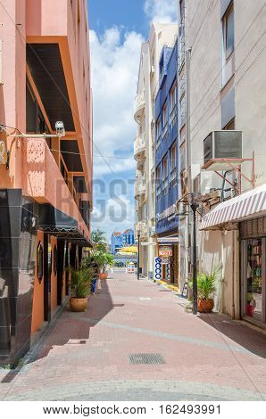 Squares And Alley Ways In Willemstad In Curacao
