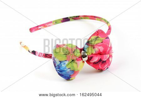 hair colored headband, isolated on white background