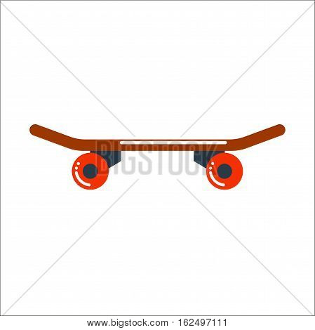 Skateboard icon extreme sport speed decoration. Vector board for skating urban sport art silhouette. Street graphic skater active fun ride equipment.
