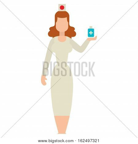 Doctor people young female professional surgeon. Medical team practitioner at hospital looking happy. Clinic occupational illness job specialist vector character.