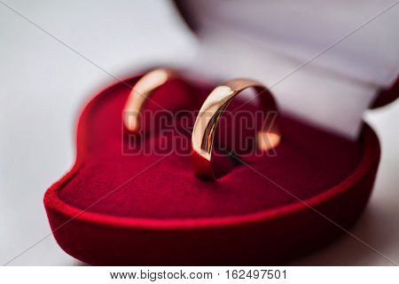 wedding bands wedding rings in the red box wedding jewelry wedding preparation