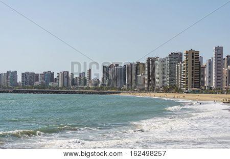 Praia de Iracema beach in Fortaleza, Ceara, Brazil.