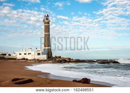 Lighthouse in Jose Ignacio near Punta del Este Atlantic Coast Uruguay