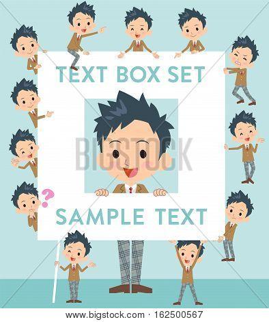 School Boy Brown Blazer Text Box