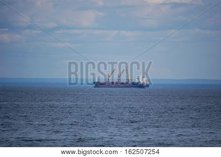 Cargo ship on Lake superior Duluth MN
