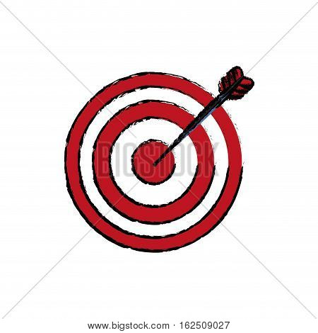 Isolated target dartboard icon vector illustration graphic design