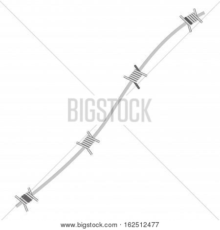 Iron barbed wire icon vector illustration graphic