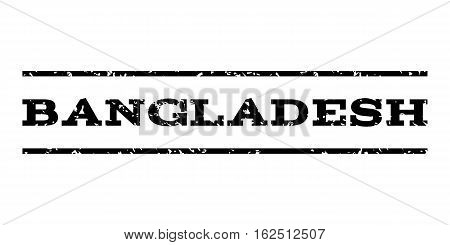 Bangladesh watermark stamp. Text tag between horizontal parallel lines with grunge design style. Rubber seal stamp with dirty texture. Vector black color ink imprint on a white background.