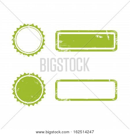 Vector Stamp without text. Set of Stamps .Grunge Rubber Texture Stamp