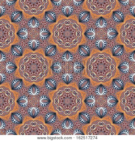 Seamless pattern with spiral and circle ornament. You can use it for invitations notebook covers phone case postcards cards ceramics carpets and so on. Artwork for creative design and art.