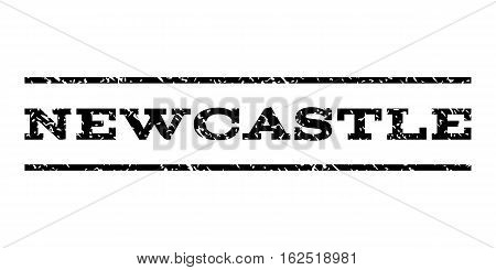 Newcastle watermark stamp. Text caption between horizontal parallel lines with grunge design style. Rubber seal stamp with dust texture. Vector black color ink imprint on a white background.