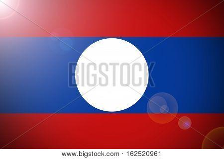 Laos flag ,3D Laos national flag illustration symbol.