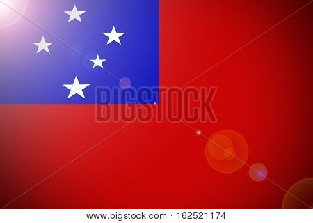Samoa flag ,Independent State of Samoa flag illustration symbol.