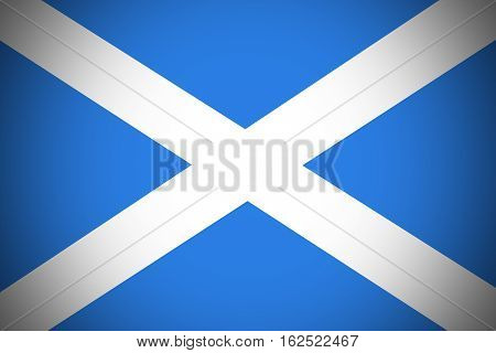 Scotland national flag illustration symbol.Country of the united kingdom