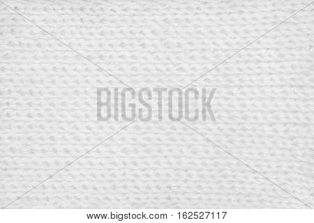 White hand-knitted mohair fabric textile pattern background