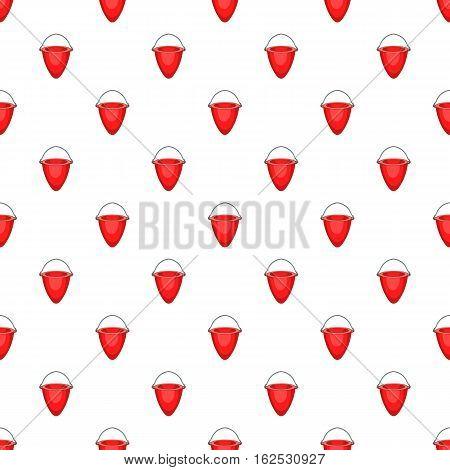 Fire bucket pattern. Cartoon illustration of fire bucket vector pattern for web