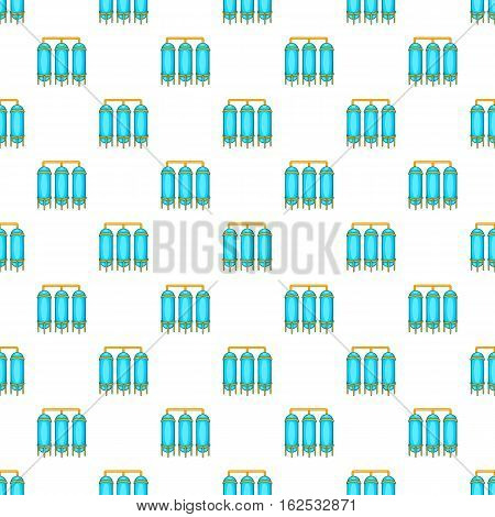 Water treatment for beer production pattern. Cartoon illustration of water treatment for beer production vector pattern for web