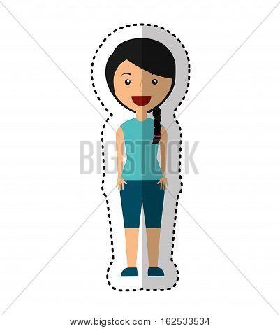 businesswoman avatar isolated icon vector illustration design
