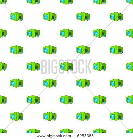 Beer sorting plant pattern. Cartoon illustration of beer sorting plant vector pattern for web