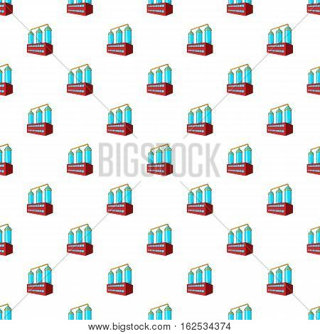 Wort preparation pattern. Cartoon illustration of wort preparation vector pattern for web