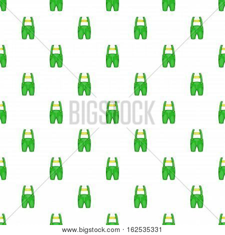 Pants with suspenders pattern. Cartoon illustration of pants with suspenders vector pattern for web