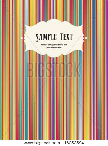 stripe pattern background with frame