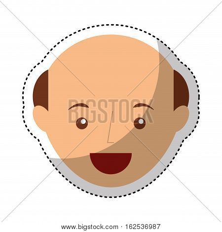 young man bald avatar character vector illustration design