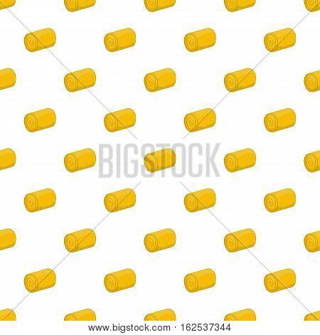 Haystack pattern. Cartoon illustration of haystack vector pattern for web
