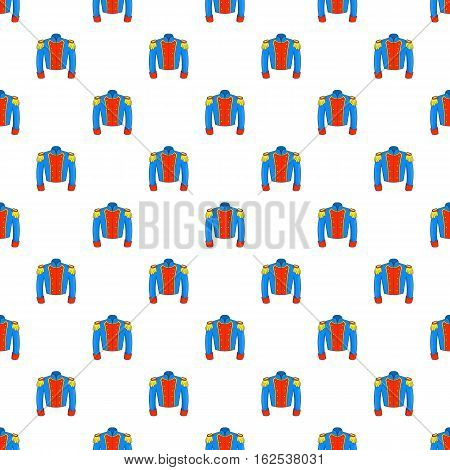 Military jacket of guards pattern. Cartoon illustration of military jacket of guards vector pattern for web